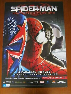 Spiderman-Shattered Dimension-Large 2 Sided Promo Poster-Ps3/Xbox360/Wii