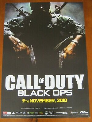 Call Of Duty-Black Ops-Large 2 Sided Promo Poster-Ps3/Xbox360