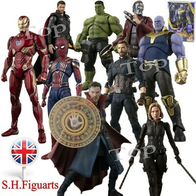 """UK S.H.Figuarts Avengers 4 Thanos Iron Man 6"""" Action Figure SHF Toys Gift In Box"""