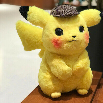 Presale 2019 Pokemon Center Movie Detective Pikachu Soft Plush Toy Figure Gifts