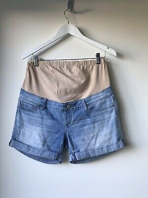 JEANSWEST Womens Denim Maternity SHORTS Size 10 Excellent Condition