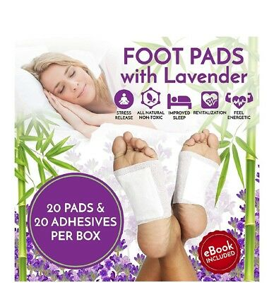 Lavender Foot Pads Patches For Pain Relief 20 Pack