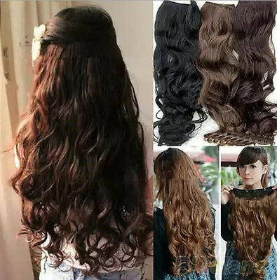 Fashion Full Head Clip Curly/Wavy Women Synthetic Hair Extension