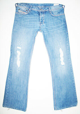 *HOT! AUTHENTIC Men DIESEL @ ZATHAN Art 8AR BOOTCUT DISTRESS Denim Jeans 34 x 32