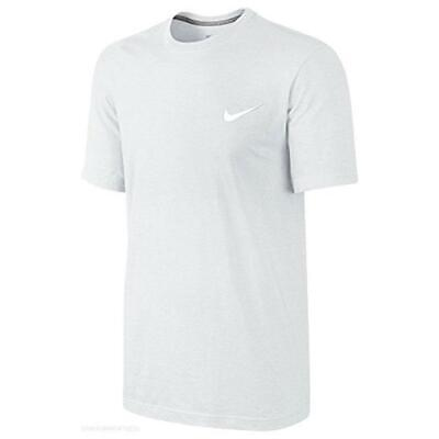 Nike Swoosh Mens Classic T Shirt Sports Gym Crew Navy Blue White Grey Black Tee