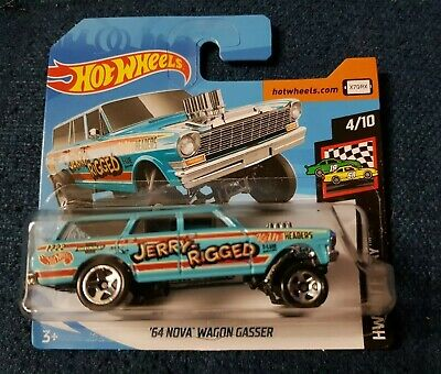 2019 Hot Wheels -'64 CHEVY NOVA WAGON GASSER - Short Card HW RACE DAY #198/250