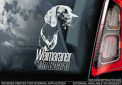 Weimaraner - Dog Car Window Sticker - Vorstehhund Weim Sign Art Print Gift -TYP4