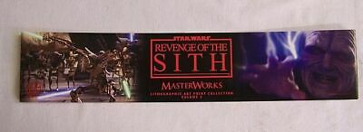 Star Wars Revenge Of the Sith Masterworks Lithographic Art Print Collection #2