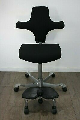 UK & EU DELIVERY | HAG Capisco 8126 | With StepUp | Sit / Stand chair | Black
