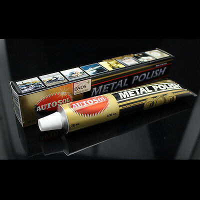 Autosol Solvol Chrome Polish/Cleaner Aluminium & Metal Paste 75ml Tube Car/Bike