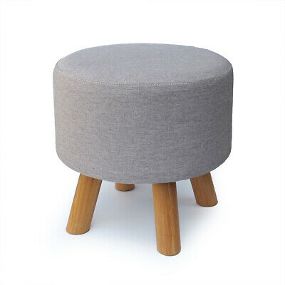 Wondrous Grey Wooden Footstool Footrest Ottoman Pouffe Coffee Table Andrewgaddart Wooden Chair Designs For Living Room Andrewgaddartcom