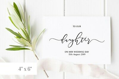 To My Daughter On Her Wedding Day Card 1 25 Picclick Uk