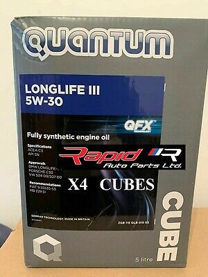 Quantum Longlife 3 5W-30 Fully Synthetic Engine Oil New 4x 5 Litre Bottles 20L