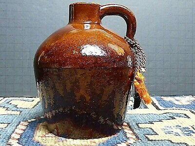 Early Roycroft Mission Arts and Crafts Stickley Era Pottery Honey Syrup Jug 5'