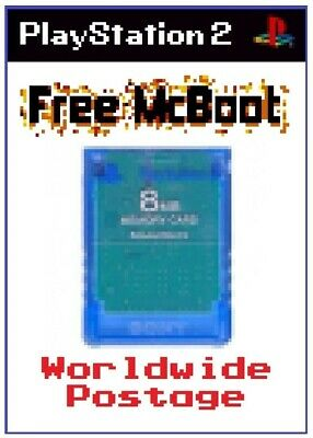Free McBoot (FMCB) Version 1.966 / Official SONY PS2 Memory Card *Damaged*