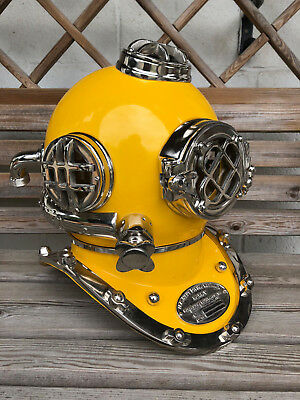 "Antique 18"" U.S Navy Diving Helmet Mark V Deep Sea Divers Helmet Vintage"