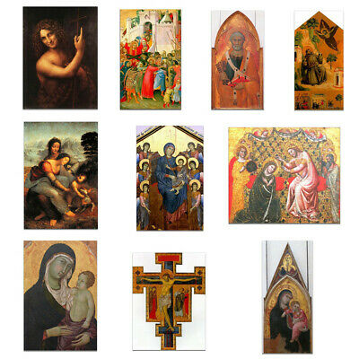 Virgin Mary Jesus Canvas Art Oil Painting Poster Print Wall Picture Cafe Decor