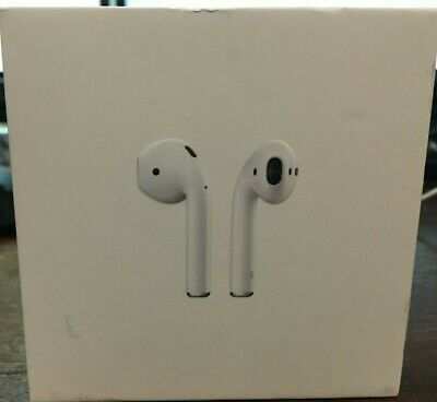 Genuine Apple AirPods White InEar Wireless Bluetooth Headsets  W/ Case MMEF2AM/A