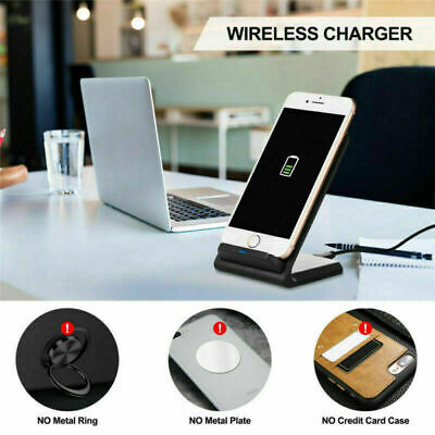 10W DUAL COIL Qi Wireless Fast Charger Ladestation Induktive
