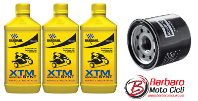Replacement Kit 3 L Bardahl XTM Synt 10w40 Mt-07 + Oil Filter Yamaha MT 07 2017