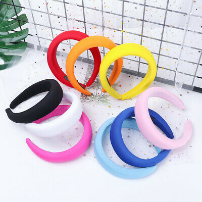 Women Girls Polyester Hair Bands Thick Sponge Headwear Velvet Headbands
