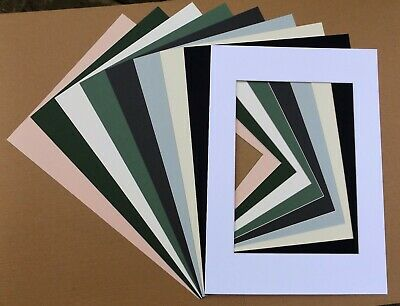 Cardboard PICTURE MOUNTS for A2 Picture Frame - Various colours/cut out sizes