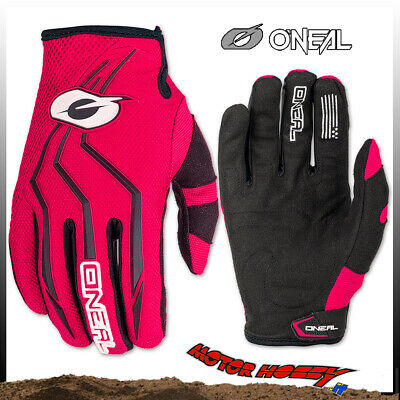 Guanto Glove Cross Enduro Quad O'neal Oneal Element Nero Rosso Taglia Xl
