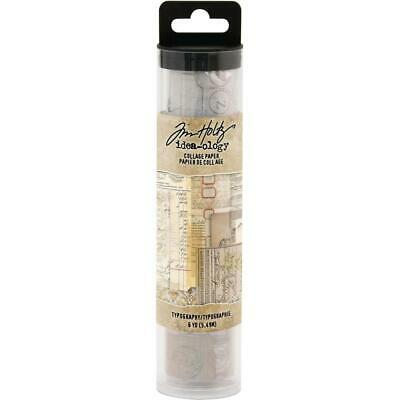 Tim Holtz Idea-Ology Collage Paper - Typography - 6yd Roll