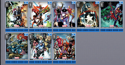 Topps Marvel Collect Card Trader May 4 : Comic Book Day Inserts Set of 8 & Award