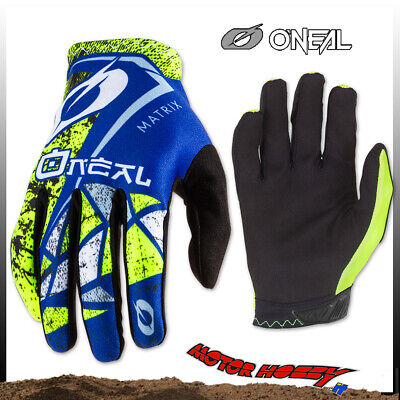 Guanto Glove Cross Enduro Quad O'neal Oneal Matrix Zen Blue Taglia M (8,5)