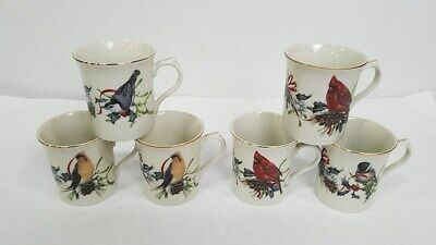 "Lenox ""Winter Greetings"" Lot Of 6 Mugs"
