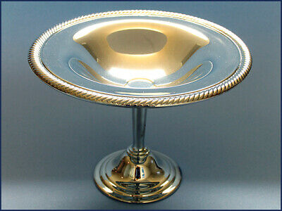 Vintage 1970s Silverplate Compote Candy Nut Dish on Pedestal NEVER USED