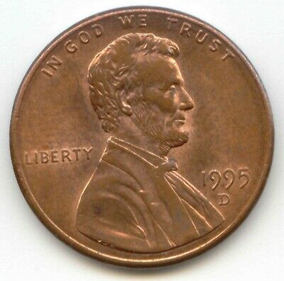 USA 1995D American PENNY One Coin Lincoln Memorial 1c EXACT PENNY SHOWN 1995 D ~