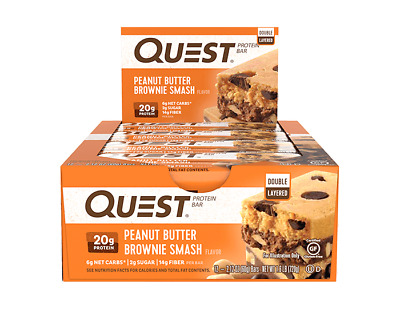 Quest Nutrition Protein Bar | 2.5 OZ | Peanut Butter Brownie Smash!