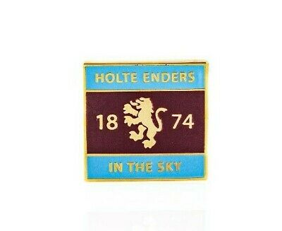 Aston Villa FC ' Holte Enders In The Sky ' #HEITS Claret & Blue Enamel Pin Badge