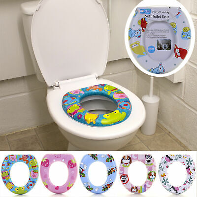 Kids Soft Padded Toilet Training Seat Children Baby Potty Seat Toddler Removable