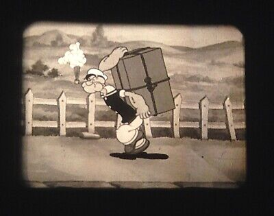 16mm FLEISCHER POPEYE CARTOON - STRONG TO THE FINICH (1934) Original Print