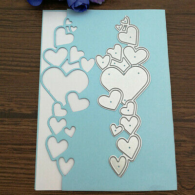 Heart Lace Edge Frame Metal Cutting Dies Stencils DIY Scrapbook Decor Embossing