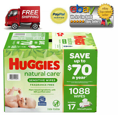 Huggies Natural Care Baby Wipe Refill, Fragrance Free (1,040 ct.) *BEST DEALS*