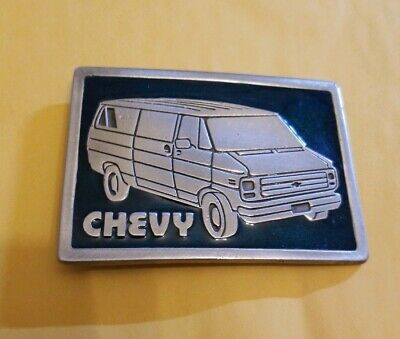 Vintage Chevy  Van Belt Buckle Metal