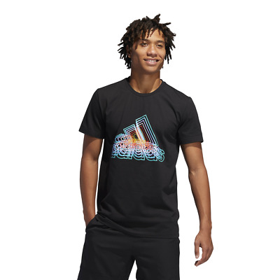 Adidas Men Tshirt Lifestyle Clothing Basketball Future BOS Court Tee DX0300 New