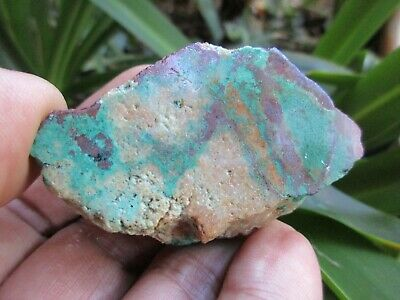 CUPRITE, CHRYSOCOLLA & QUARTZ - Arizona Copper Minerals - Lapidary Rough   NICE