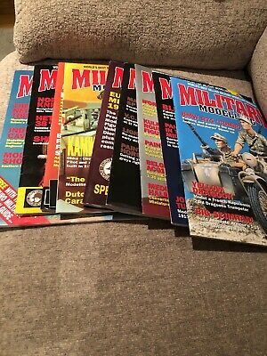 Military Modelling Magazine Job Lot 1997 9 Editions Excellent Condition
