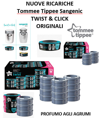 Sangenic Tommee Tippee Ricariche Twist & Click Tec Simplee Originale New Agrumi
