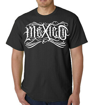 RED BANDANA MEXICAN Flag T shirt Northern Cali Mexico North