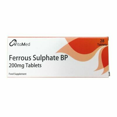 3 x 28 Ferrous Sulphate 200mg Iron Tablets