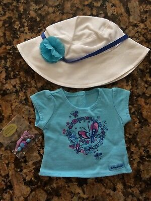 """American Girl 18"""" Doll Hat, Shirt And Bracelet New In Bag"""