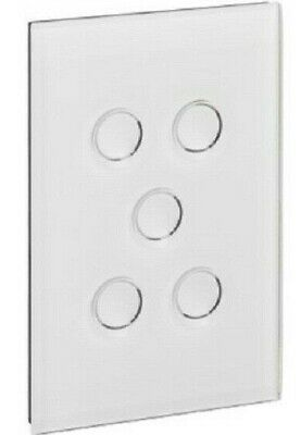 Clipsal GRID PLATE & COVER 5-Gangs Touch PURE WHITE *Australian Brand