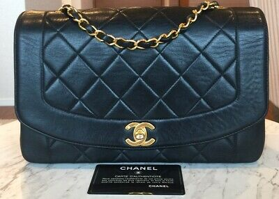 cad8f6ff46cf AUTHENTIC CHANEL VINTAGE Diana Flap Lambskin Handbag - $2,500.00 ...