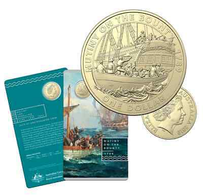 """latest release  2019 Mutiny and Rebellion Coin $1 Unc Coin on Card """"Mutiny"""